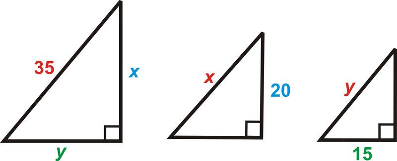 Solution: Separate the triangles. Write a proportion for