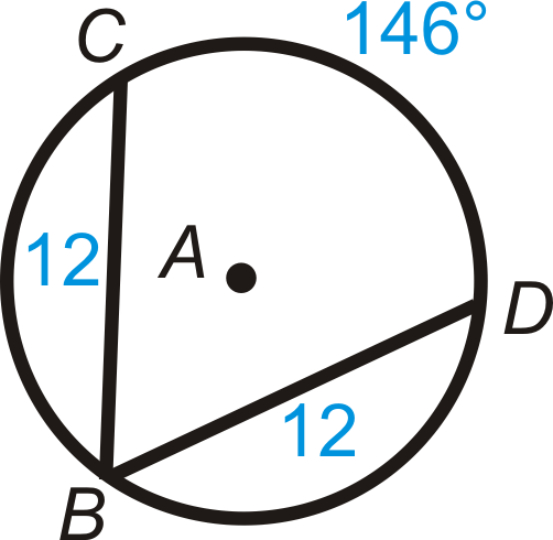 Find the value of the indicated arc in