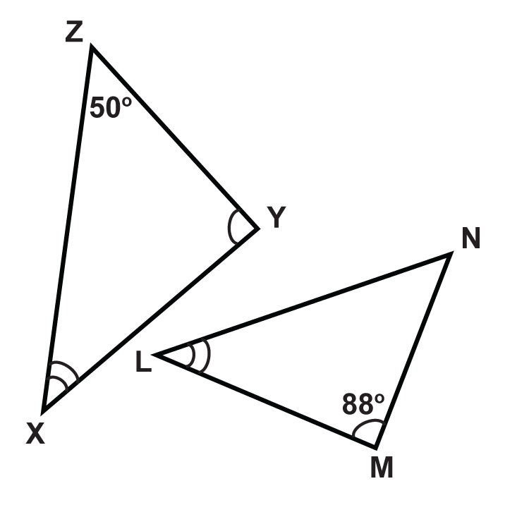 Determine the measures of the unknown angles.