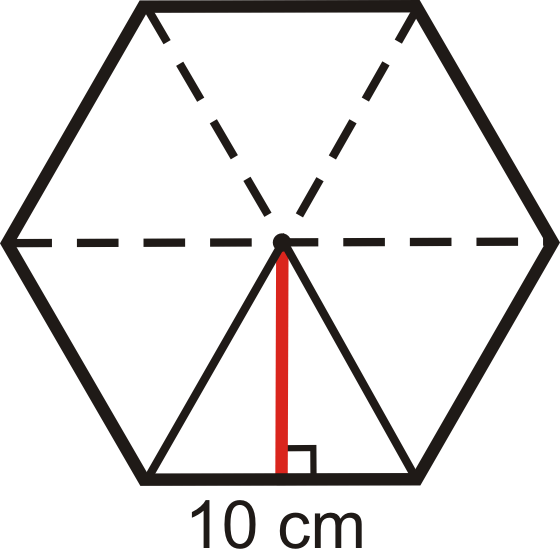 Use the regular hexagon below to answer the following