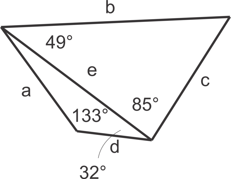 In questions 13 and 14, list the measures of the sides in