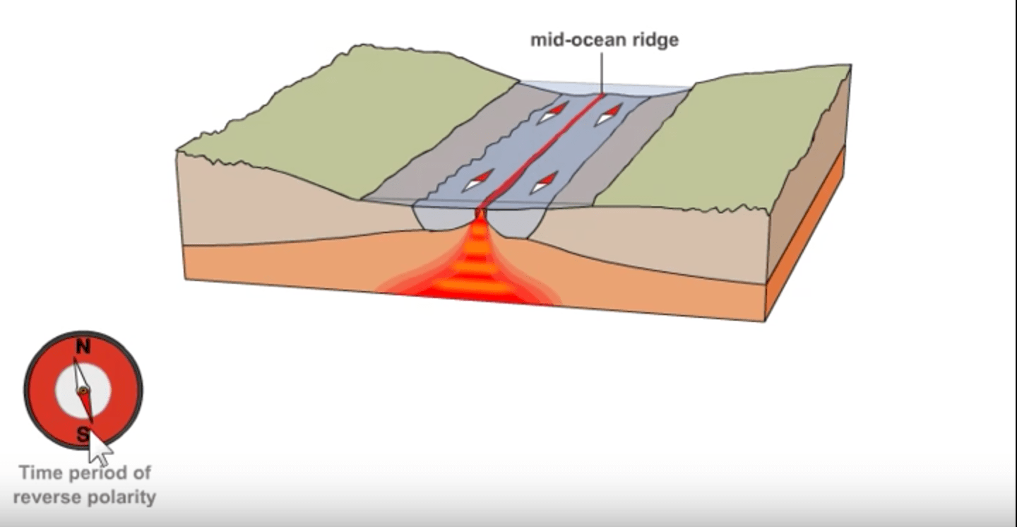 hight resolution of magnetic field reversal and seafloor spreading