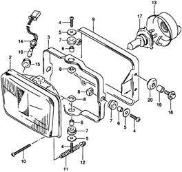 Suzuki DR650 Headlight Page