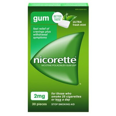 Nicorette Nicotine Gum Ultra Fresh Mint 2mg