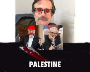 , Robert Peston of the ITV News Monopolies stands with a Double Knife against Free Palestine. As a New Nazi writer and Proud Jew, Robert Peston Supports the Baseless Criticism of Chief Rabi against Jeremy Corbyn with an underlying EVIL Purpose to KNIFE A FREE PALESTINE