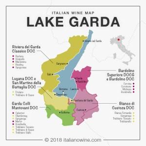 Wine regions of Lake Garda map