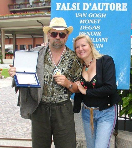 American Cultural Ambassador Jakupca italian medal of arts wcpm