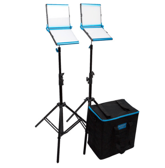 Dracast Silver Series LED1000 Bi-Color Foldable 2-Light Kit with Soft Case