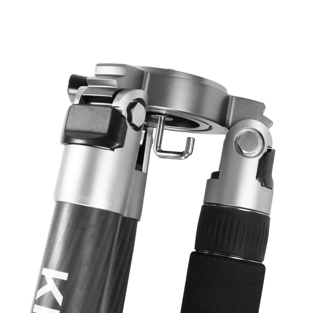 Kingjoy K5208 Heavy Duty Carbon Fiber Video and Photo Tripod