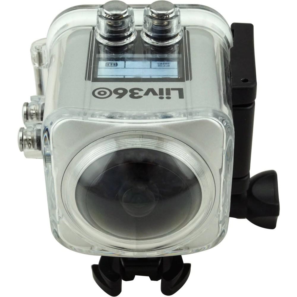 Liiv360 Action Waterproof Camera Silver