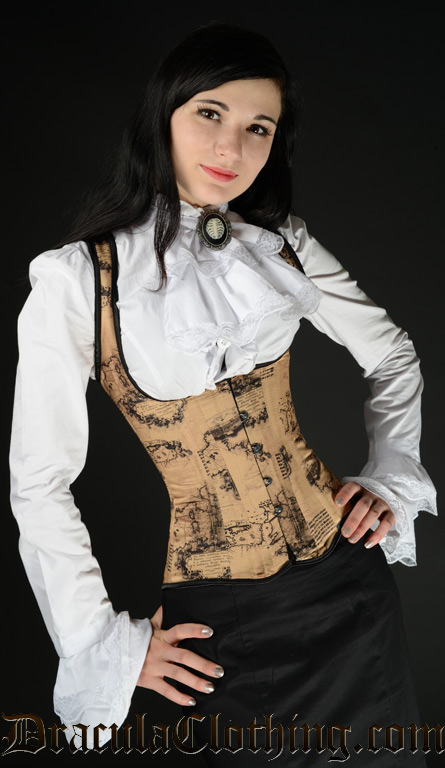 map shoulder corset