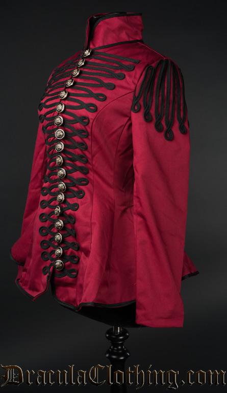 Red Ladies Military Jacket