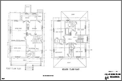 First and Second Floor for Queen Anne House Plan