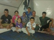 Our first family in the UNHCR refugee camp in Turkey
