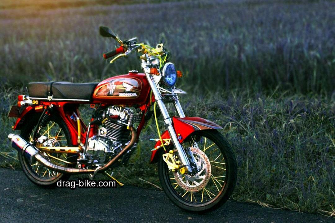 51 Foto Gambar Modifikasi Motor CB 100 Terbaik Kontes drag