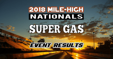 2018 Mile High National Super Gas Results