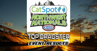 2018 NHRA CatSpot Northwest Nationals Top Dragster Results