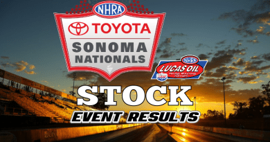 2018 NHRA Sonoma National Event Stock Results