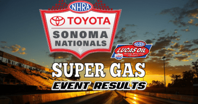 2018 NHRA Sonoma National Event Super Gas Results