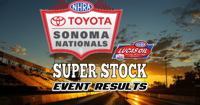 2018 NHRA Sonoma National Event Super Stock Results