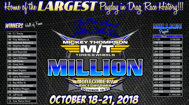 2018 watch the million dollar race live coverage