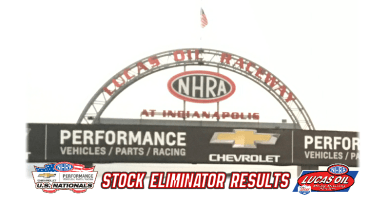 2018 NHRA US Nationals Stock Eliminator Results