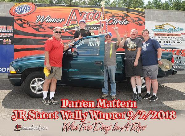 Darren Mattern JR Street Winner 9-2-18