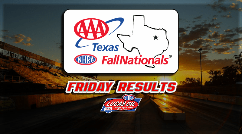 2018 AAA Texas Fall Nationals Friday Sportsman Results