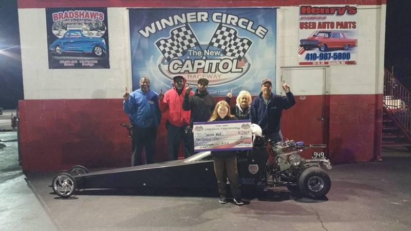Capitol Raceway Jaelynn Ward Jr Dragster Winner Capitol Raceway 10132018