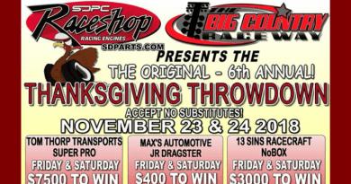 Big Country Raceway Thanksgiving Throwdown Nov 23-24