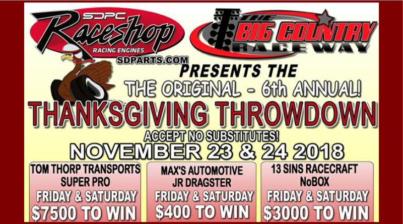 Big Country Raceway Thanksgiving Throwdown Nov 23-24
