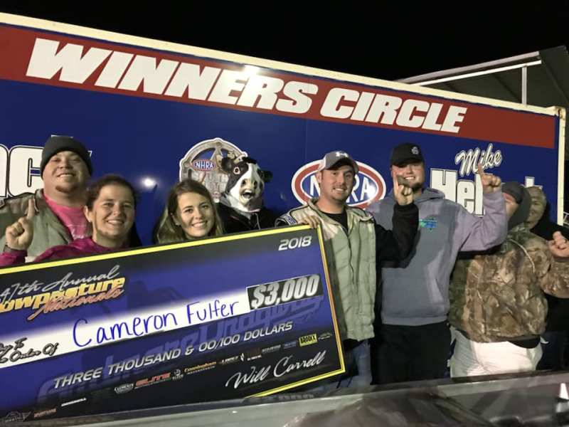 Cameron Fulfer Saturday No E Winner at 2018 Cowpasture Nationals