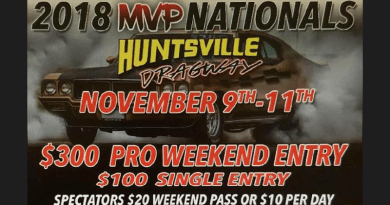 Huntsville Dragway MVP Nationals Nov 9-11