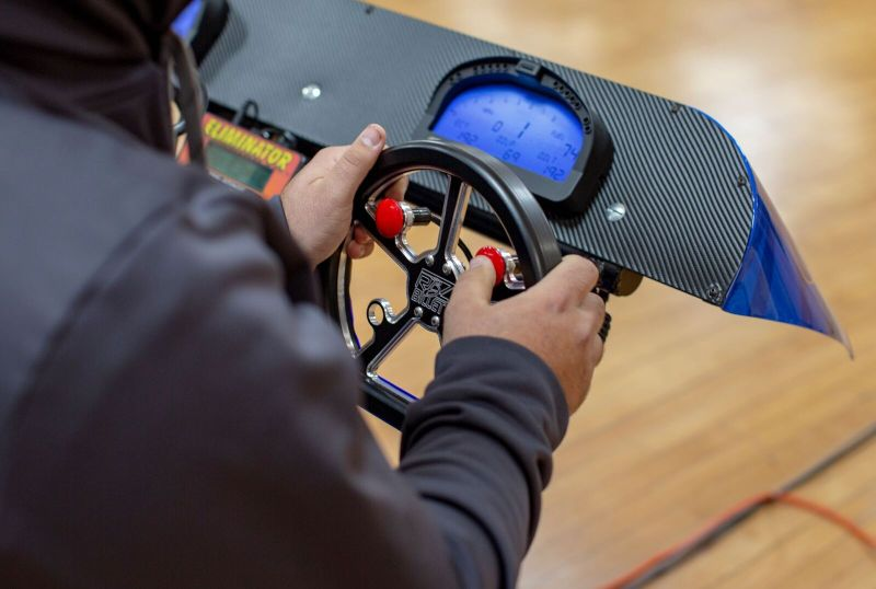 Dragsters for Sale Practice Tree Race 2019 steering wheel setup