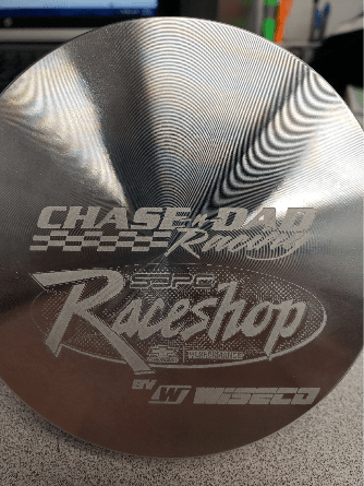 Chase-n-Dad Racing Wiseco laser etched piston