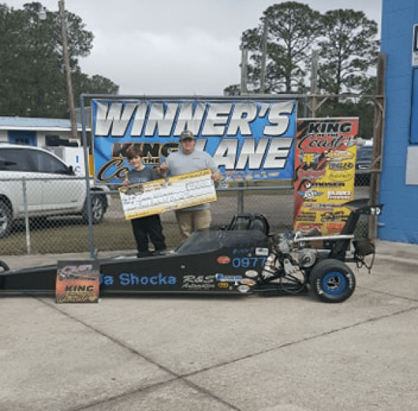 Gunner Williamson KOC 10-12 jr dragster winner 021719