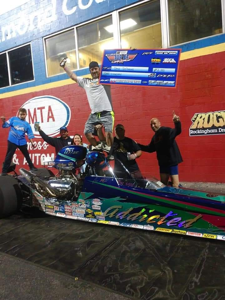 Chris Depascale Gamblers Race Saturday Winner Top ET Challenge at Rockingham Dragway