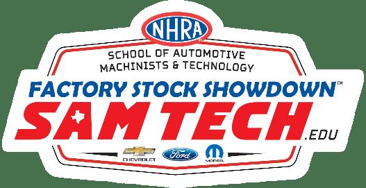 NHRA SAM Tech Factory Stock Showdown Logo