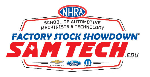 NHRA SAM Tech Factory Stock Showdown Logo