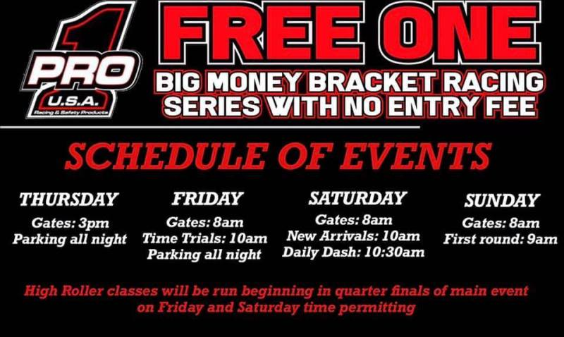 Pro 1 Free One Bracket Race