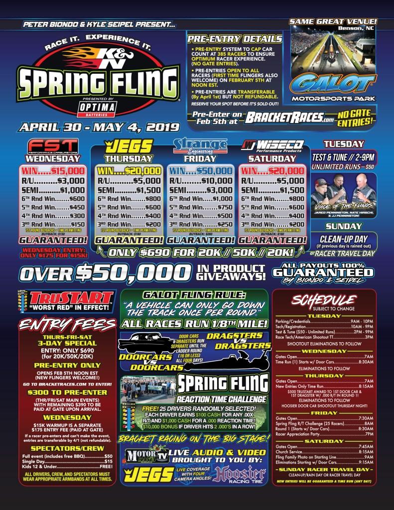 2019 Spring Fling GALOT Flyer Page 1