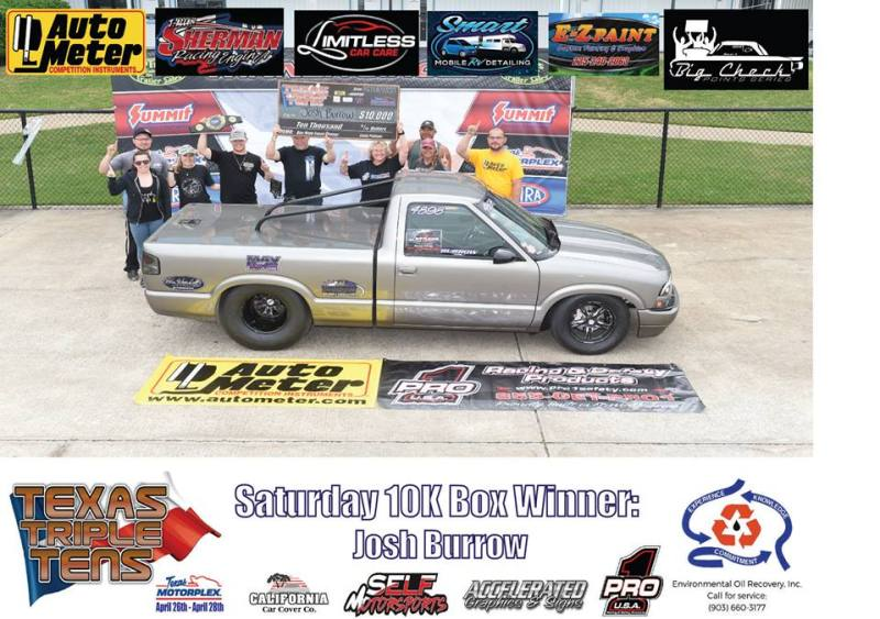 Josh Burrow wins Texas Triple Tens 042819