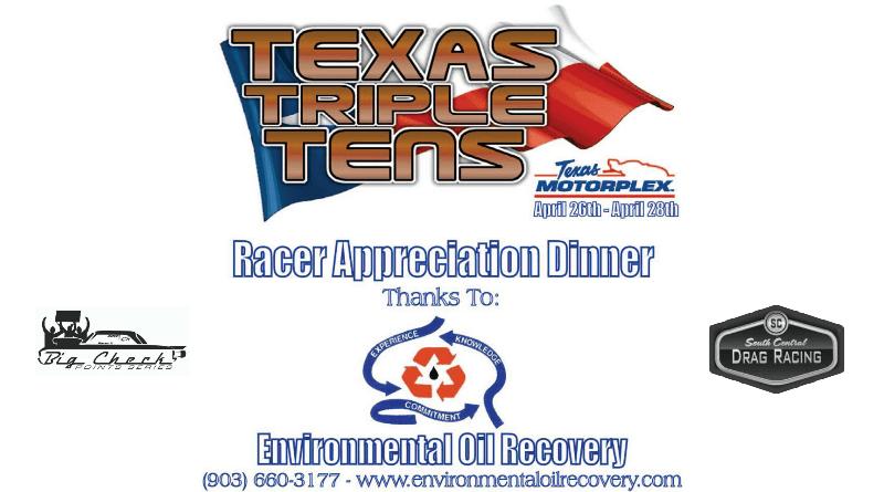Texas Triple Tens Environmental Oil Recovery Racer Appreciation Dinner