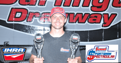 Dallas Glenn Doubles at Darlington IHRA Race