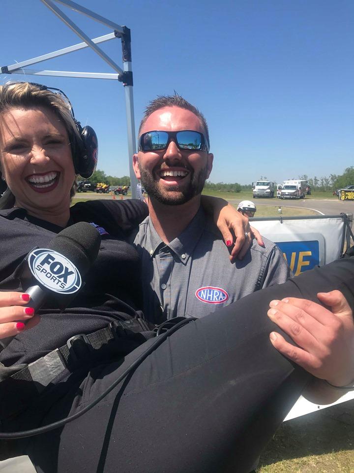 Jake Hodge with Amanda Busick 2019 NHRA Spring Nationals