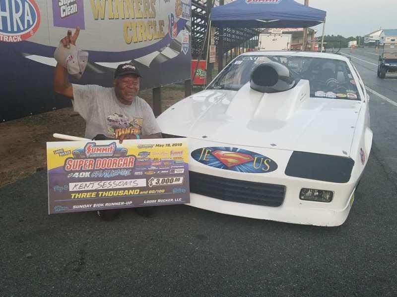 Kent Sessoms Super Doorcar Challenge Sunday 10k runner up