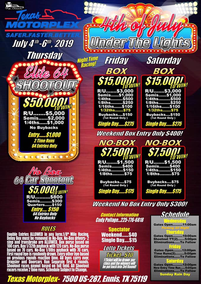 4th of July under the lights race flyer