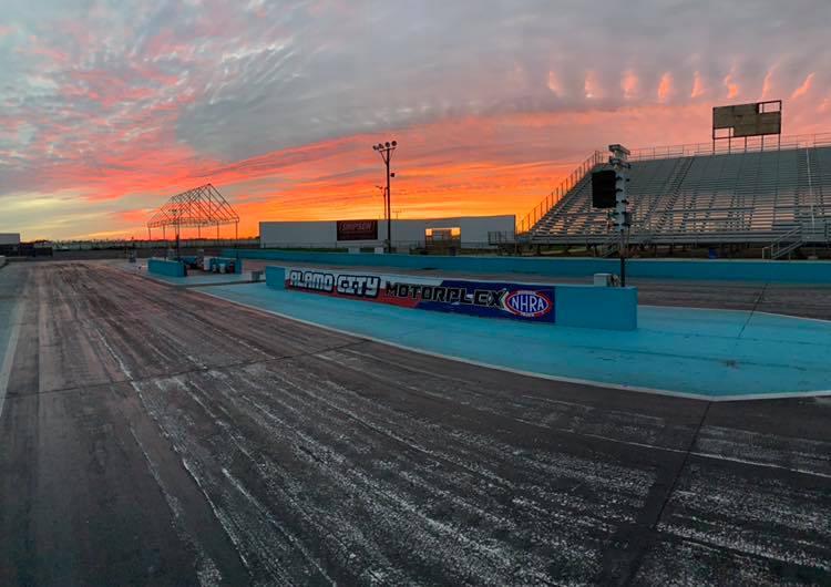 Alamo City Motorplex sunset photo