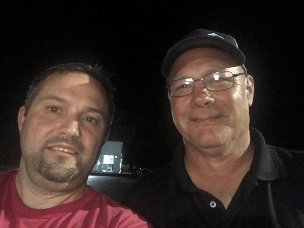 Gary Don with Jay Holmes at Alamo City Motorplex 6-15-19