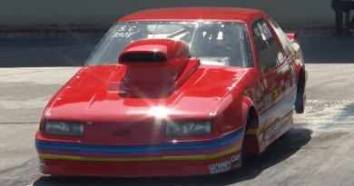 Nathan Vrooman 2019 Route 66 Nationals Super Gas Champ burnout